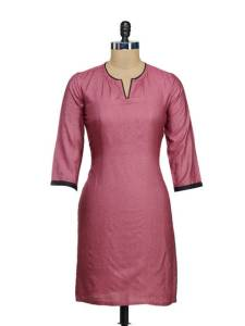 elegant-pink-black-silk-kurta